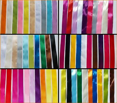 SATIN RIBBON 10 x 1 meter  / 25mm wide mix  colors  Gift Wrapping crafts flowers