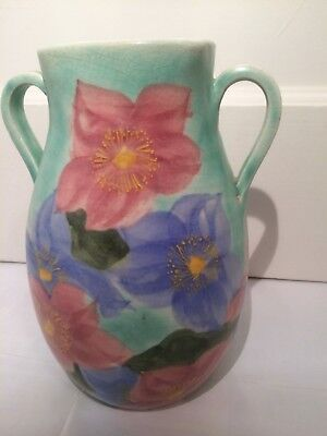 E Radford twin handled vase
