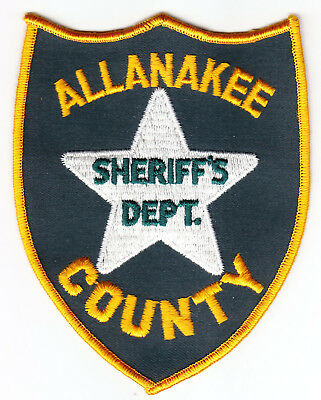 Allanakee County IA Iowa Sheriff;s Dept SPELLING ERROR Patch Allamakee