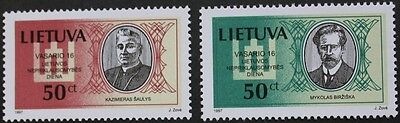 National day, signatories to 1918 declaration of independence stamps, 1997, MNH