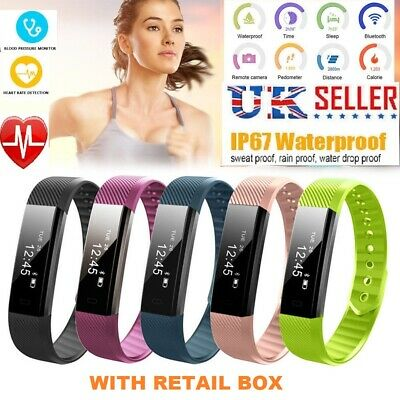 Smart Fitness Tracker Activity Step Calorie Counter Smart Bracelet Heart Rate Ft