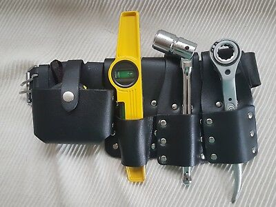 New Scaffolding Strong Leather Tool Belt 10'' Flat Ratchet 19&21 Full Toolset