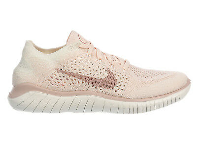 57510ae7656 Womens Nike Free RN Flyknit 2018 Running Shoes Trainers Guava Ice Particle  Beige