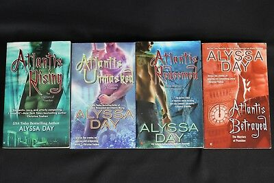 Lot of 4 The Warriors of Poseidon Series Paperback Romance Books by Alyssa Day