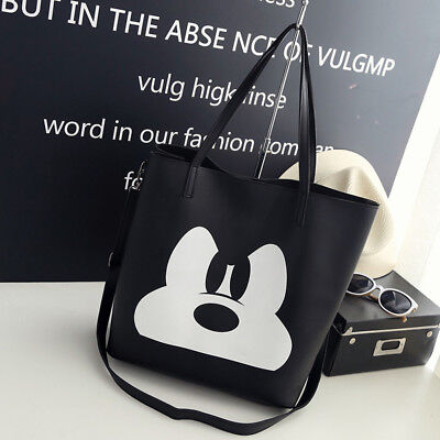 Fashion Handbag PU Leather Mickey Mouse Women Ladies Cartoon Shoulder Tote Bag