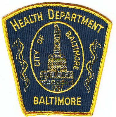 Baltimore City MD Maryland Health Department police style patch CHEESECLOTH
