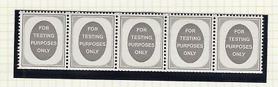"""For Testing Purposes Only-""""Poached egg labels - coil strip of 5 MNH & MM"""
