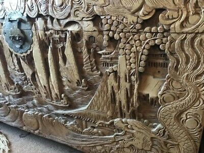 Old Chinese Carved Camphor Chest …beautiful collection / display piece