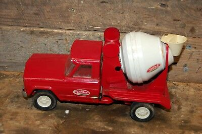 Vintage Toy 1960's mini Tonka Jeep Cement Mixer Truck Pressed Steel no 77