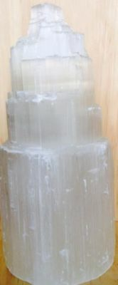 Crystal Selenite Lamp size: 28-35 cm tall