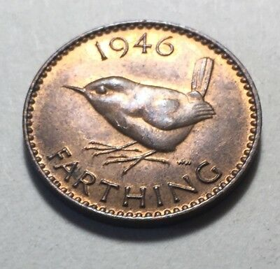 Great Britain (UK) 1946 Farthing Coin - King George VI