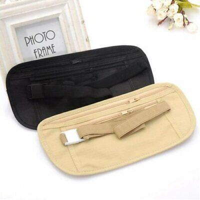 Travel Wallet Hidden Security Money Passport Card Ticket Waist Belt Bag Pocket
