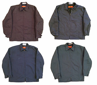 Red Kap Mens Jacket Perma Lined Panel Technician Work Uniform - MANY COLORS JT50