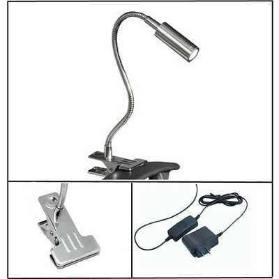 3W LED Picture Light Clamp Clip Desk Lamp On/Off Switch+Plug Cabinet Home Office