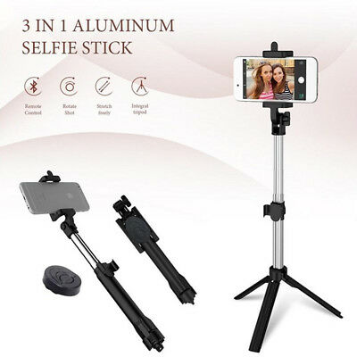 Extendable Selfie Stick Tripod Mount With Bluetooth Remote Shutter For Phone Cam