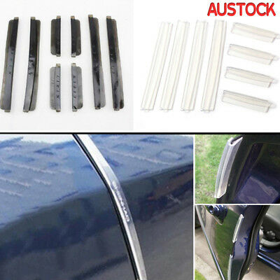 8 PCS Clear Car Side Door Edge Defender Protector Trim Guard Protection Strip T