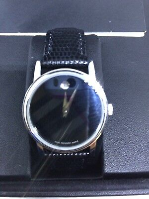 Movado Museum Ladies Watch Genuine Leather Strap MO.01.3.14.6001 New Open Box