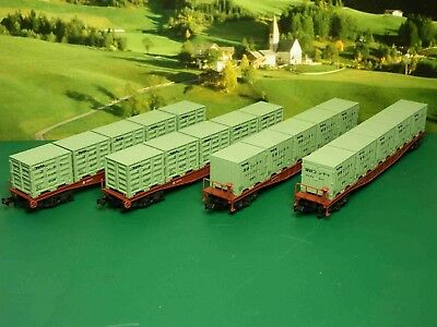 N scale Tomix Green Container Set x 4 (395)
