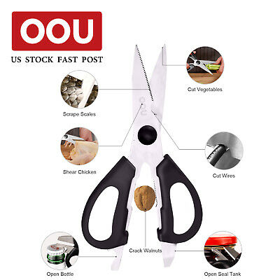 OOU 6 in 1 Multipurpose Kitchen Scissors High Carbon Steel Shears Cut Stainless