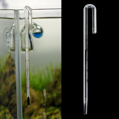 Aquarium Fish Tank Glass Thermometer With Hook Reptile Box Accessories Supplies