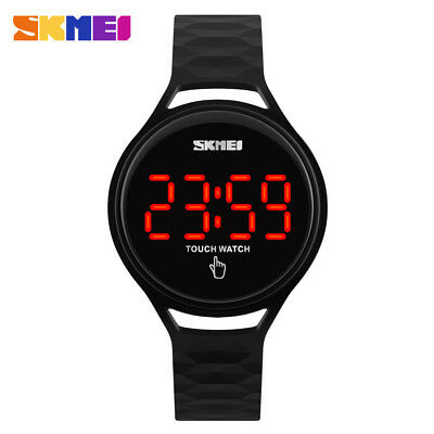 SKMEI Women Digital Watch Touch Screen LED Display Student Boys Girls Wristwatch