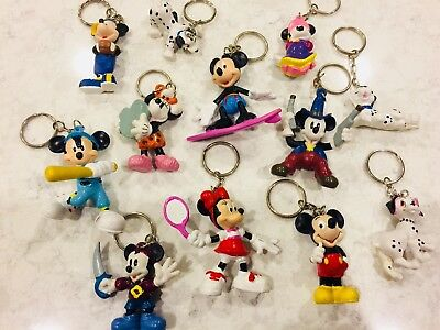 Party Favor!! Disney Mickey Mouse Minnie Key Ring Keychain Lot of 12 characters