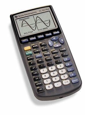 Graphing Calculator Original Texas Instruments TI 83 Plus with Built-in Memory