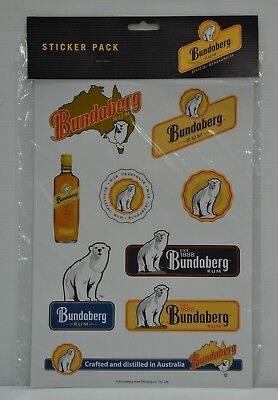Bundaberg Rum Official Merchandise Brand New 9 Pack Of Bundy Decal Stickers
