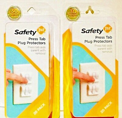 40 Safety 1st Press Tab Electric Plug Protectors