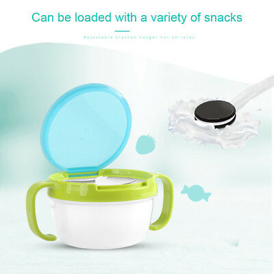 Child Kids Baby Dishes Bowl Anti Spill Double Handle Non Spilling For Snacks