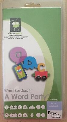 Brand NEW - Cricut Cartridge ~ A WORD PARTY - In Original Sealed Plastic