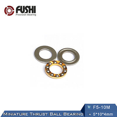 F5-10M Bearing 5x10x4mm ABEC-1 (10PC) Miniature Axial Thrust Bearings F5-10 M