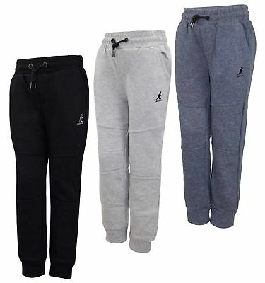 New Kids Kangol Brand Jogging Bottoms Joggers Cuffed Elasticated Hem Trousers