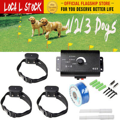 1/2/3 Dogs Pet Electric Wireless Fence Fencing System Collar Containment Hidden