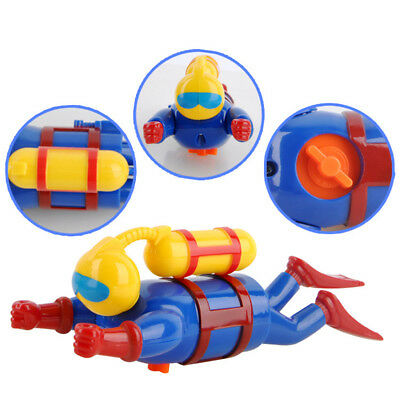 Children Dive Toys Wind-up Diver Doll  Water Swimming Bath Playing Creativity
