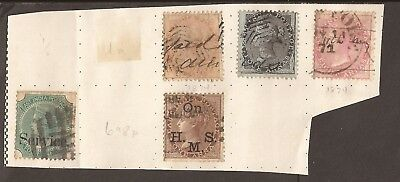 East India Company. 1855-1868. (on paper) Good cat value. Some overprints