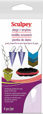 Sculpey - Design It Templates - Jewellery Shapes
