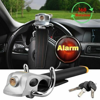Foldable Vehicle Car Steering Wheel Lock Anti Theft Security Airbag Lock+3 Keys