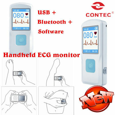Newest PM10 Portable hanheld single channel ECG EKG Monitor Bluetooth US Stock