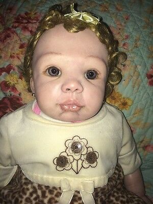 Reborn Baby Girl Kendal Sculpted by Pat Moulton