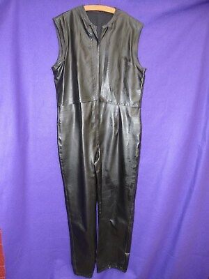 sbr shiny black rubber suit OR lounger front zip 40 chest LAST ONE