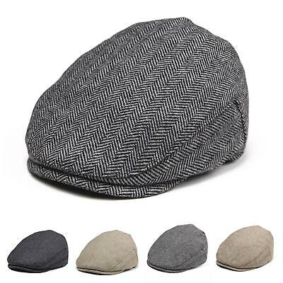 Baby Boys Hat Wool Herringbone Tweed Ivy Cap Newborn Hat 6 Months To 8 Years L
