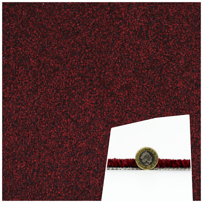 HARDWEARING & Stain Resistant Red Twist Carpet Action Back 4m Wide £7.99m²