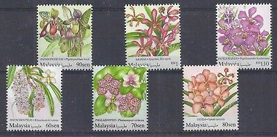 Malaysia 2017 - National Definitive Series - Orchids - Set of 6 - SG 2205/10