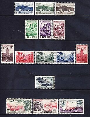 COMORO IS 1950 SG1/15 set 15 SG1/2/13/15 lightly m/m rest unmounted mint cat£100