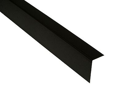 Flat Roof Metal Flashing Trim 3m Lengths BLACK -EPDM Rubber Roofing -20mm & 40mm