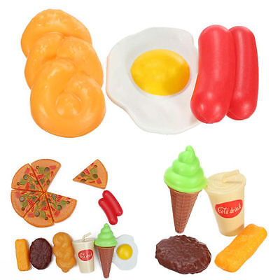 13X for Childrens Pizza Slices Cola Ice Cream Pretend Kitchen Play Food Toy`AQ
