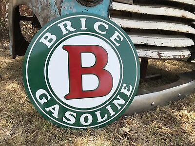 Antique Vintage Old Style Brice Gasoline Oil Service Station Sign