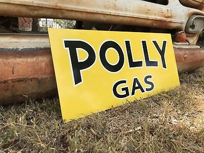 Antique Vintage Old Style Poly Gas Oil Service Station Sign