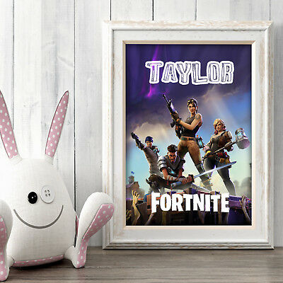 FORTNITE Personalised Poster A5 Print Wall Art Custom Name ✔ Fast Delivery ✔